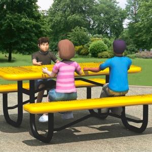 Bancă și masă parc