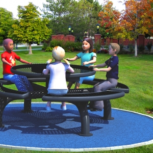 Set masa si bancute parc