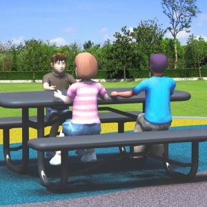 Set masa si 2 bancute parc