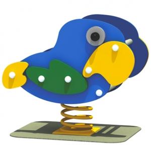 Papagalul este o figurina pe arc deosebita