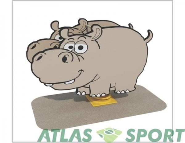 Hipopotam pe arc
