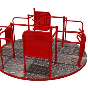 Carusel Atlas Sport rezistent și sigur pentru persoane cu dizabilități.