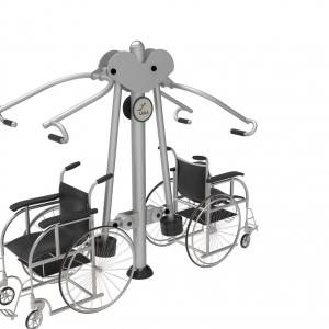 Aparat fitness împingere-tragere de înaltă calitate, dedicat persoanelor cu dizabilități