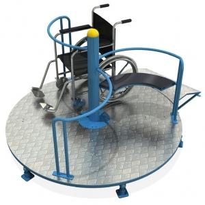 Carusel albastru pentru persoane cu dizabilități Atlas Sport