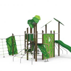 Complex de joaca petale verzi