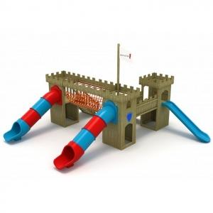 Castelul cavaler cu topogane tuburi